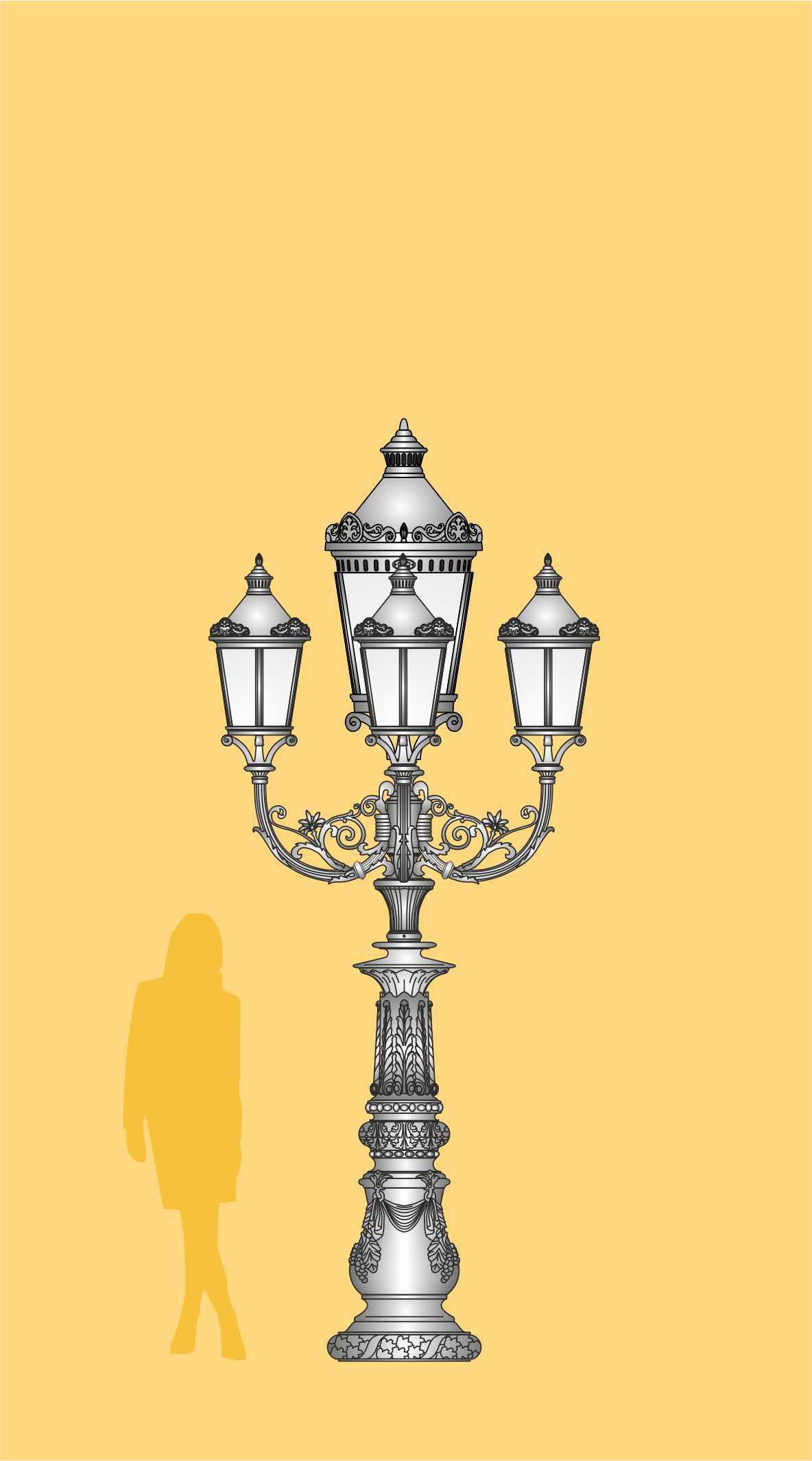 ekskluzywna latarnia do ogrodu, latarnia pałacowa, oprawy LED