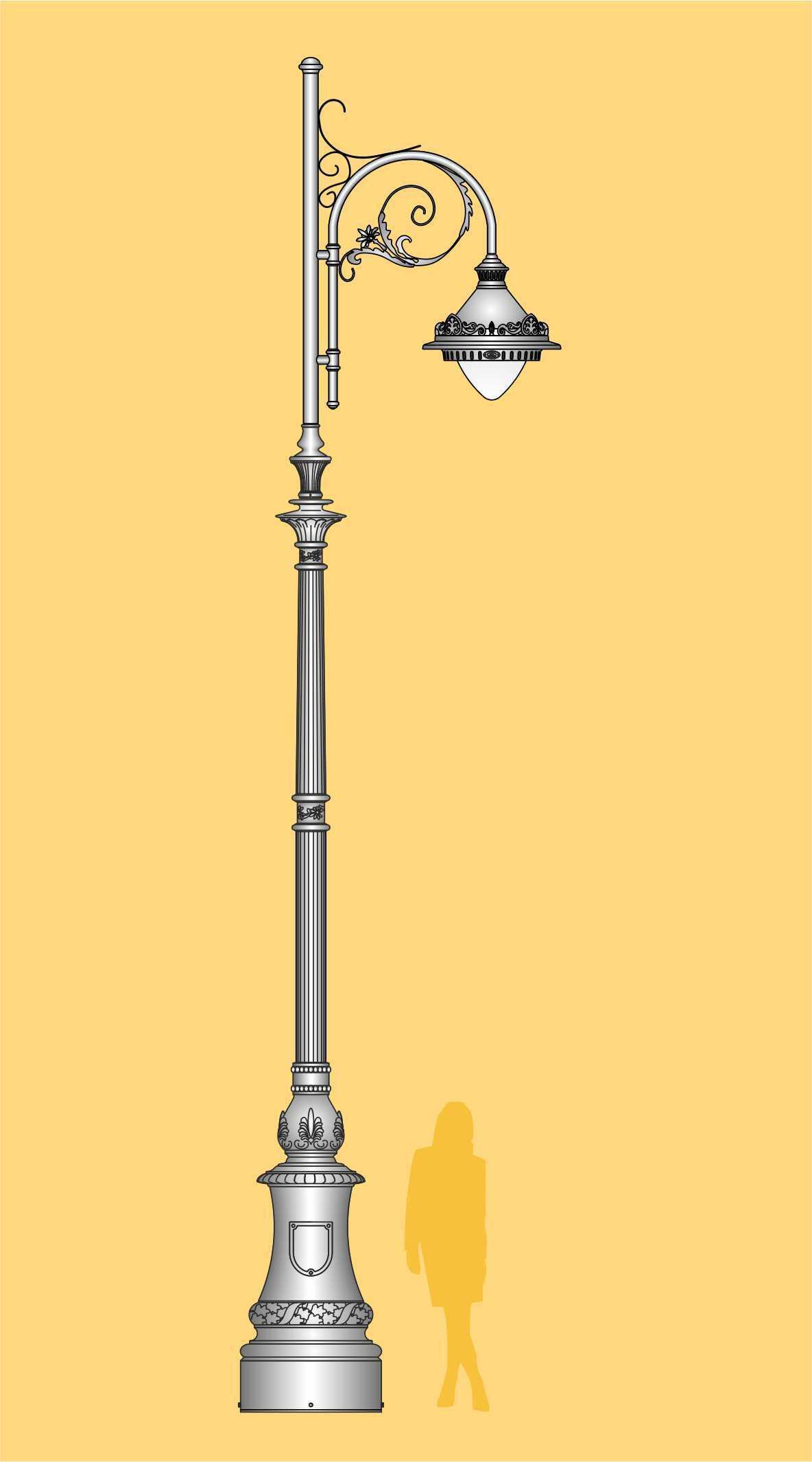 wysoka latarnia LED, ekskluzywna latarnia uliczna, oświetlenie uliczne, oprawa LED